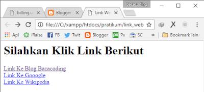 Membuat Link ke Website Lain