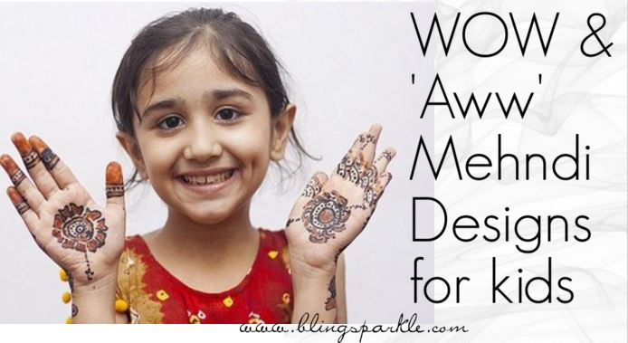 15 Easy Mehndi Designs For Your Kid S Hands Bling Sparkle
