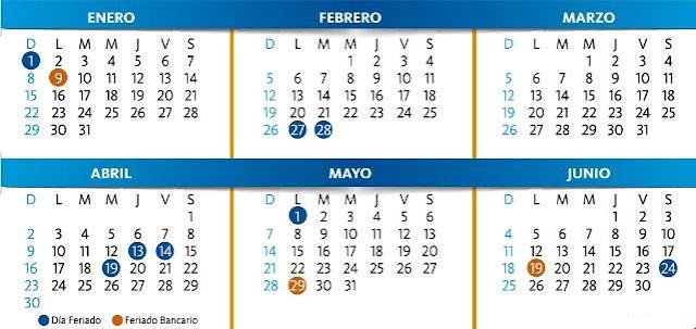 Lunes bancarios. Días festivos de Venezuela en el 2017. Días feriados de Venezuela en el 2017. Calendario bancario de Venezuela 2017.