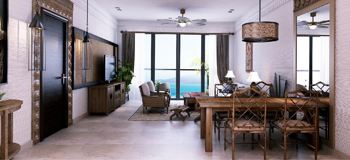 Phòng khách của dự án Beau Rivage Nha Trang
