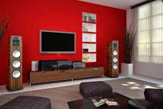 warna cat ruang tamu 2 warna juga ruang keluarga