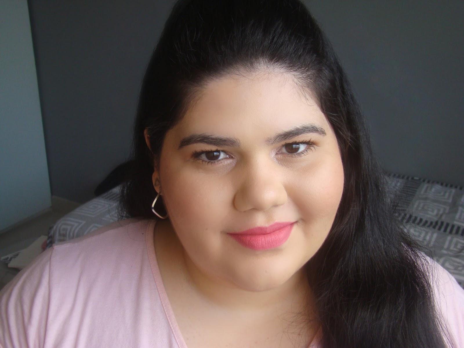 Batons Favorito  líquido cor atitude dailus pro maquiagem makeup lipstick pink lips