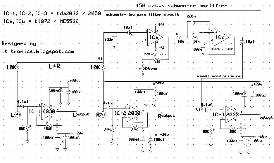 200w Power Amplifier Circuit Diagram