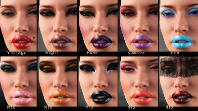 L.I.E Make-up Set 2 for Genesis 3 Female