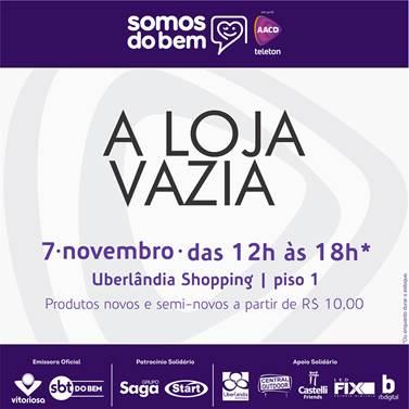 A AACD juntamente com o Uberlândia Shopping e a Rede Vitoriosa estão  realizando a campanha Somos do Bem, uma maratona pré Teleton com diversas  ações. 77b6aaf7d6