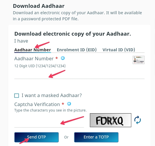 Mobile se aadhaar card kaise download kare?