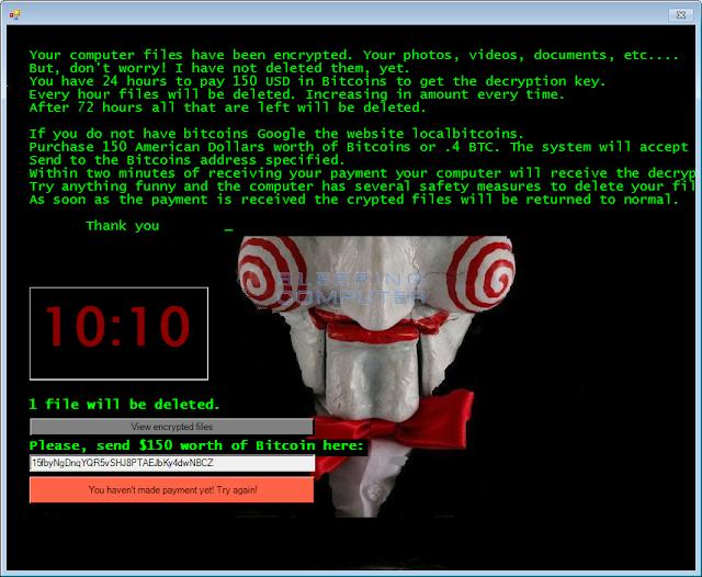 Βρήκαμε λύση για να μην πληρώσετε τα λύτρα στον ransomware jigsaw