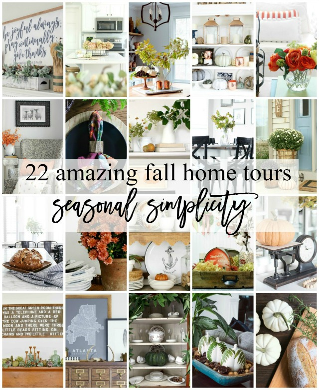 seasonal simplicity fall home tours