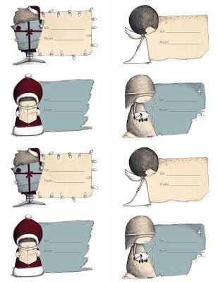 Christmas gift tag Etiqueta Navidad Arian Armstrong