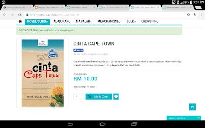 Berjaya beli novel Cinta Cape Town & Salju Cinta Anna pada harga @ RM10.00 satu !