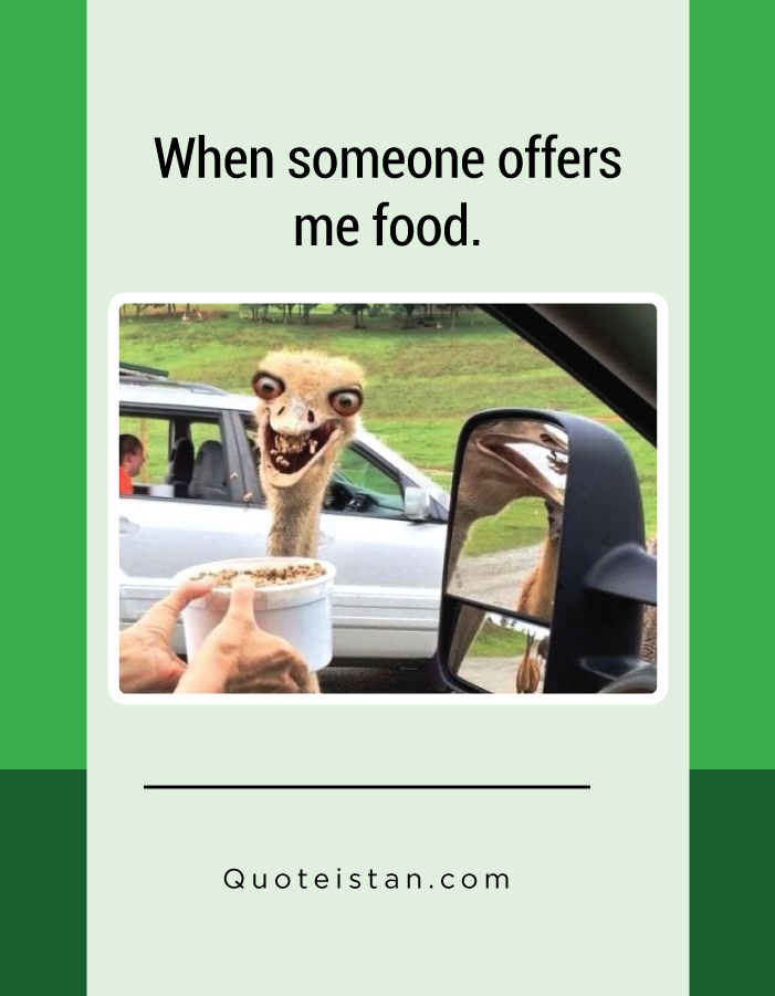 When someone offers me food.