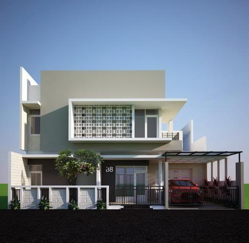 rumah minimalis 2 lantai desain tampak depan
