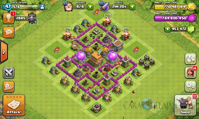 pertahanan terbaik untuk base war th 6 di clash of clans 2