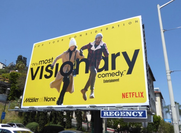 Master of None season 2 Visionary Emmy billboard