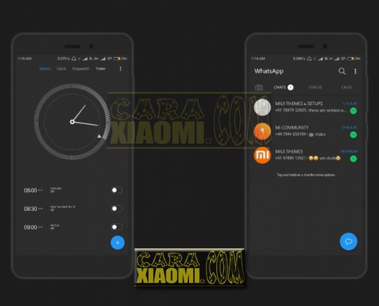 Download Thema MIUI Parallel Dark Mtz For Xiaomi Terbaru For Xiaomi