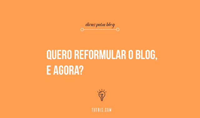 reformular o blog