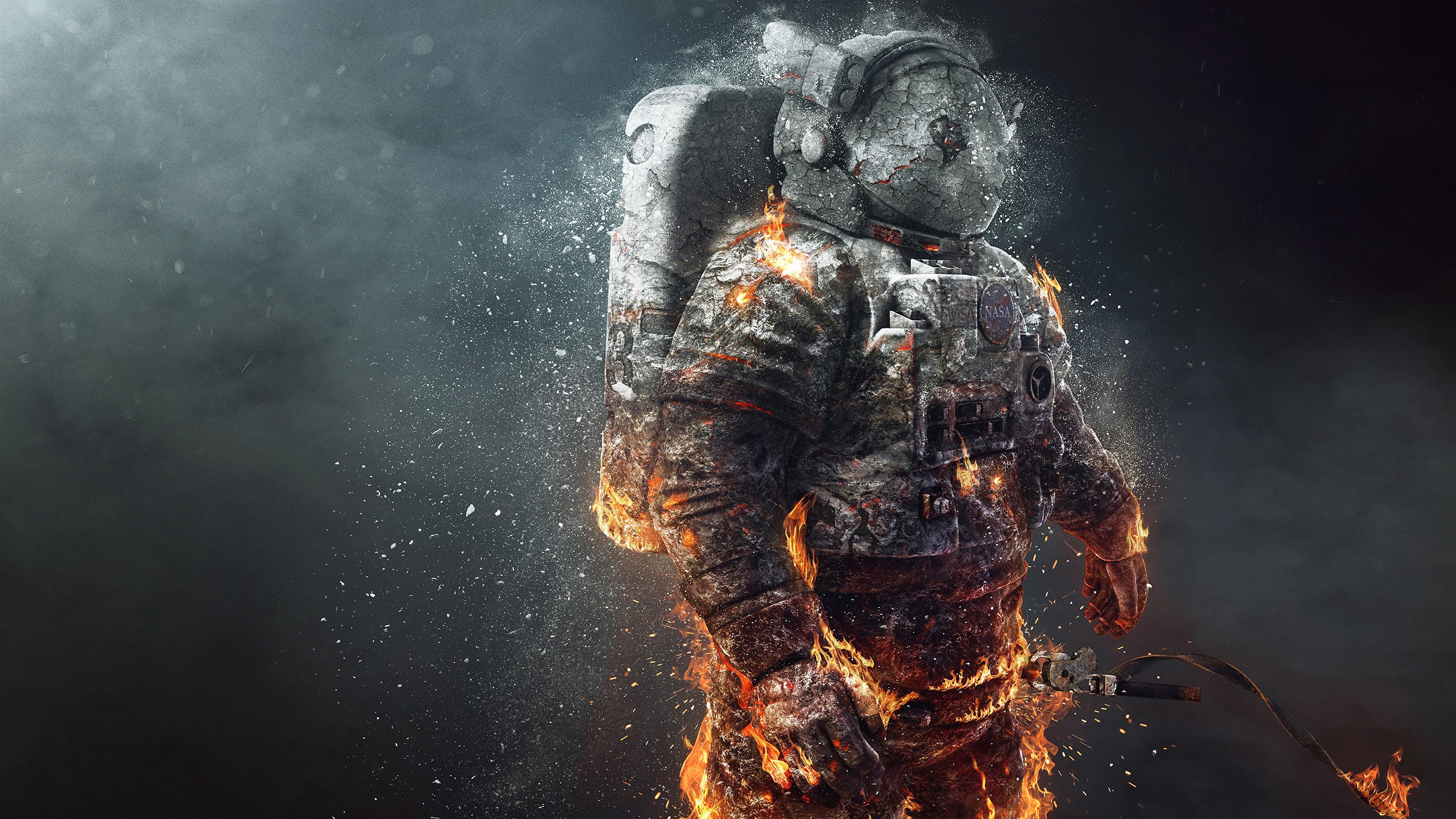 Nasa Astronaut Burning 4k 3840x2160 Wallpaper 34