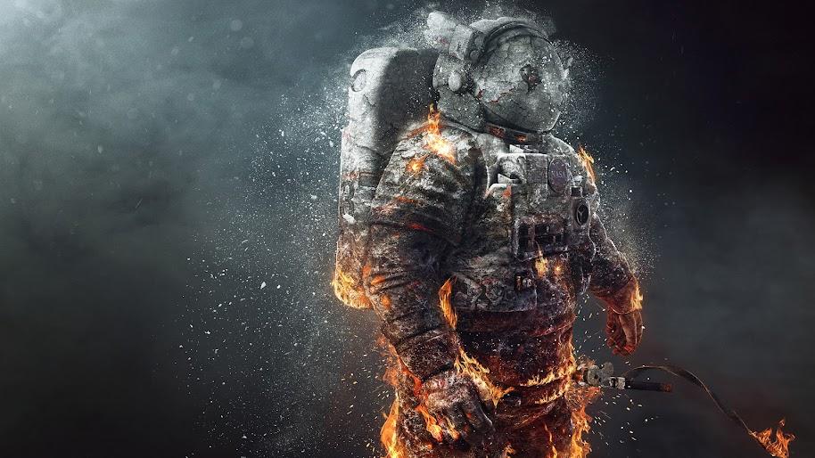 Nasa Astronaut Burning 4k Wallpaper 34
