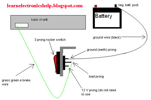 12 Volt Battery Wiring Diagram For Lights 12 Volt Positive
