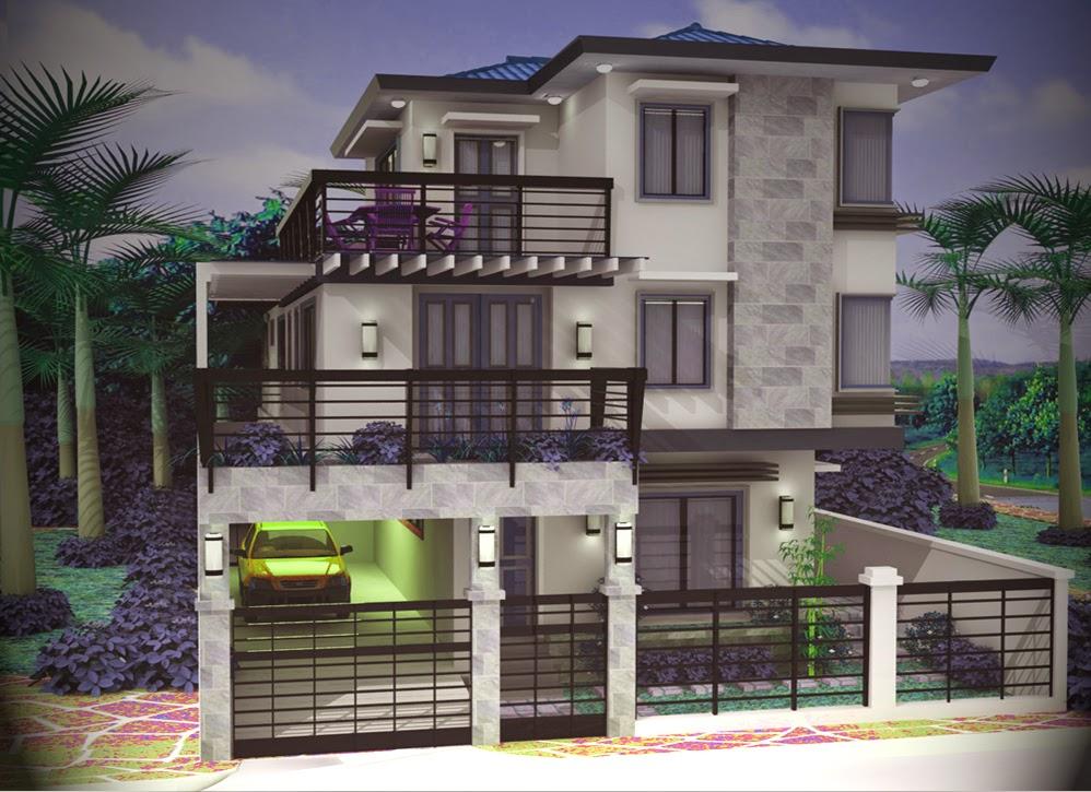 5 Contoh Rumah 3 Lantai yang Super Keren  Contoh Rumah