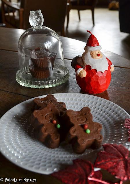 Petits fondants potiron chocolat aux épices ©Popote et Nature