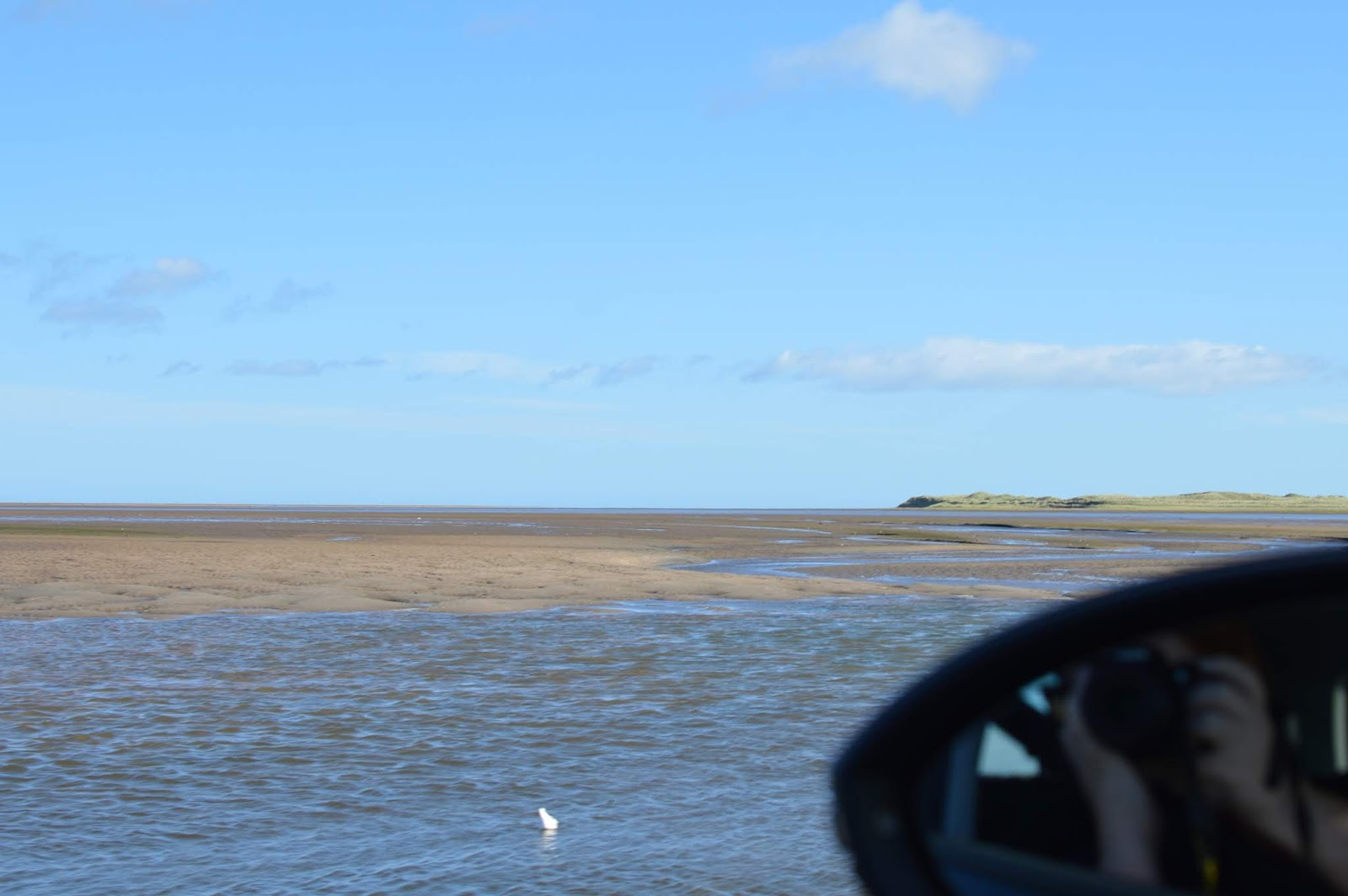 The Holy Island of Lindisfarne, Northumberland - what to see and do during a half day visit - view of the drive over the causeway