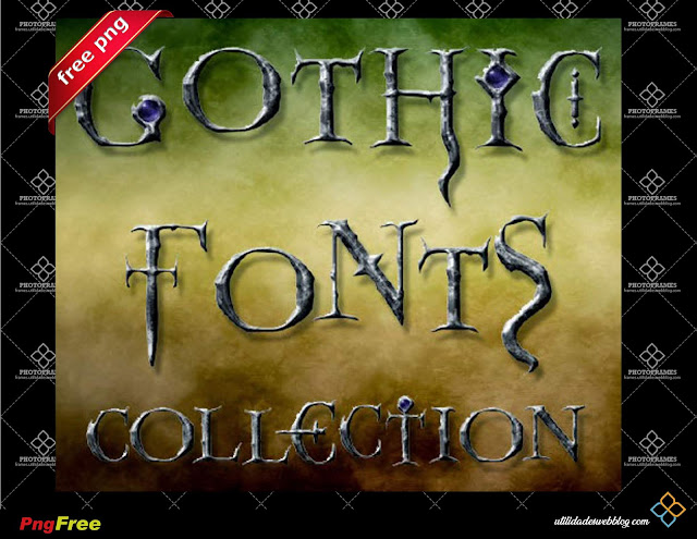 Free Gothic Style PNG Alphabet Collection