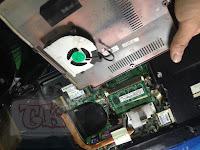 Setelah pembersihan seluruh debu yang ada pada laptop axioo mnw