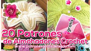 21 Patrones de Almohadones para tejer al crochet / Colección de los viernes