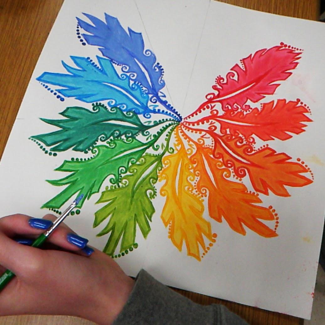 Jerdee S Art Classes Painting Acrylic Color Wheel