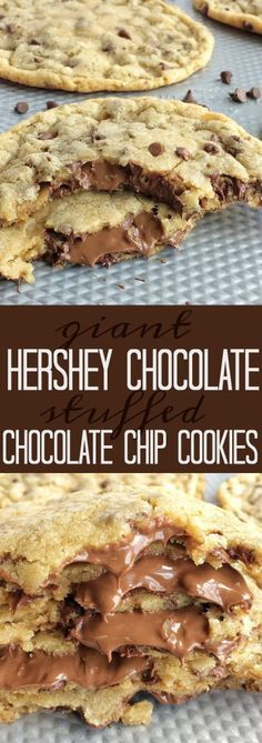 Giant Chocolate Stuffed Chocolate Chip Cookies Recipe