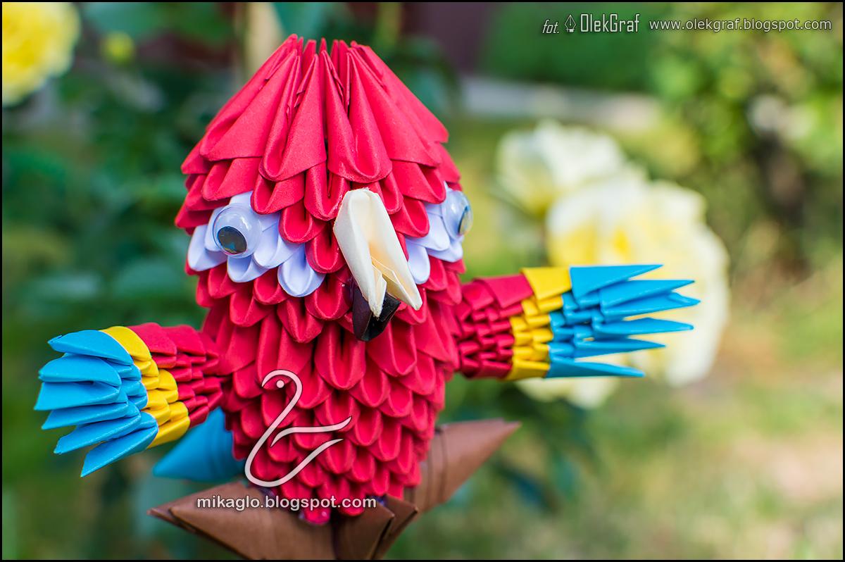 Origami 3d Mikaglo 453 Papuga Z Parrot Origamiorigami Macaw Parrotorigami Diagram Taki May Model Tego Kolorowego Ptaka Siedzia Ju W Mojej Gowie Od Duszego Czasu Oczywicie Przyszoci Na Pewno Ulepsz Swoj Prace