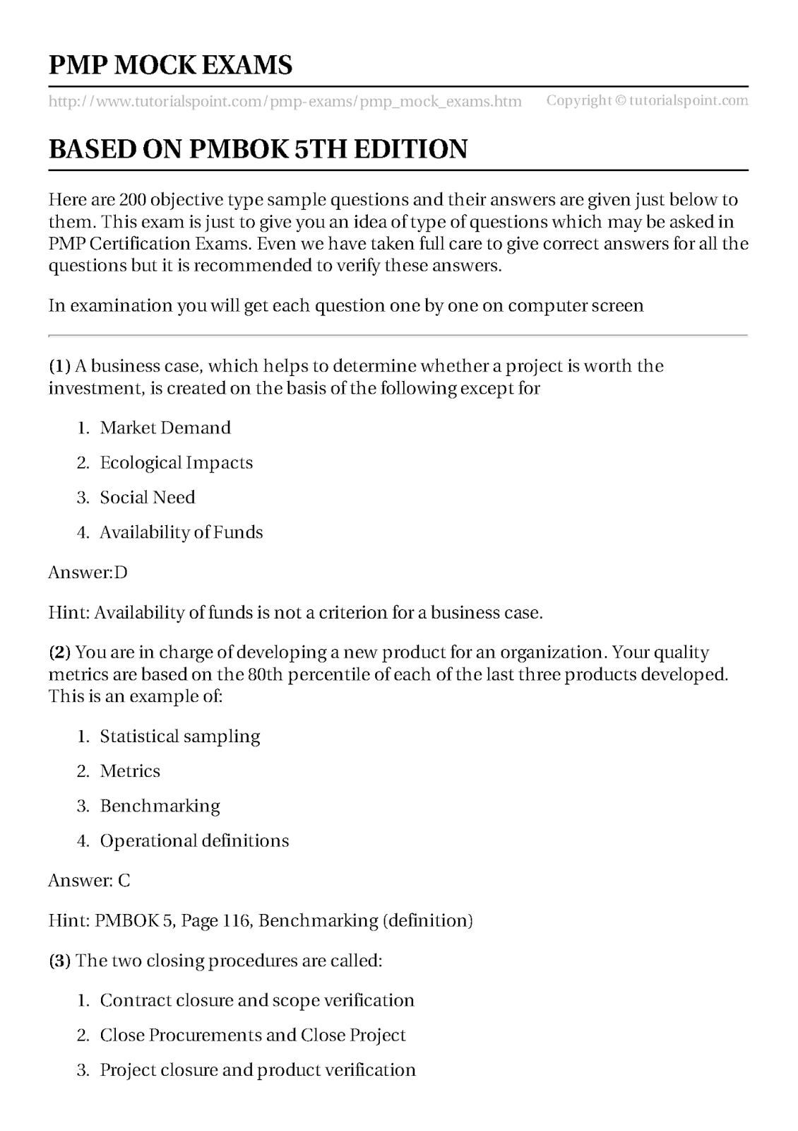 Pmp sample questions based on pmbok engineering management here are 200 more objective type sample questions and their answers are given just below to them this exam is just to give you an idea of type of questions fbccfo Images