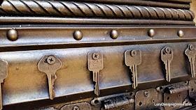 using keys and metal in artwork