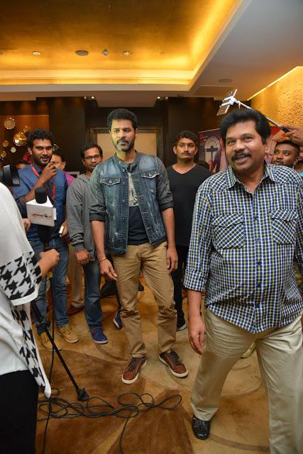 Prabhudeva at Abhinetri Telugu Movie Audio Launch Photos