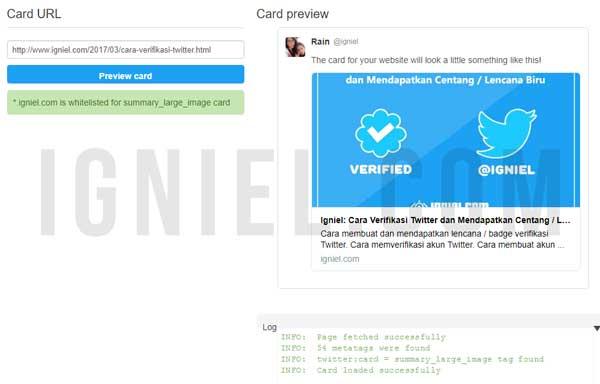 Memasang Meta Twitter Card Markup Di Blogger