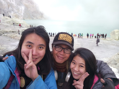 The highest acidic lake in Ijen volcano Banyuwangi