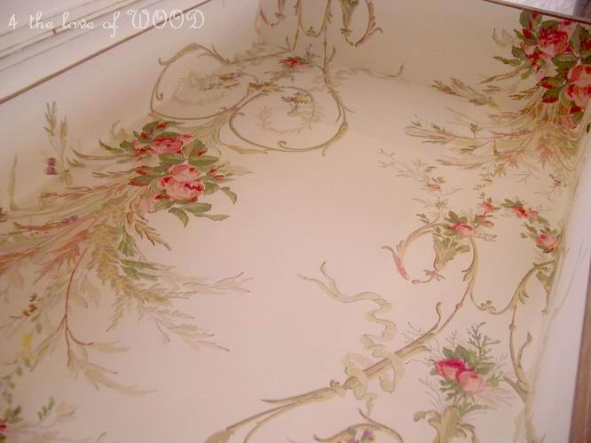 4 the love of wood: WALLPAPERED DRAWER LINERS - part 2