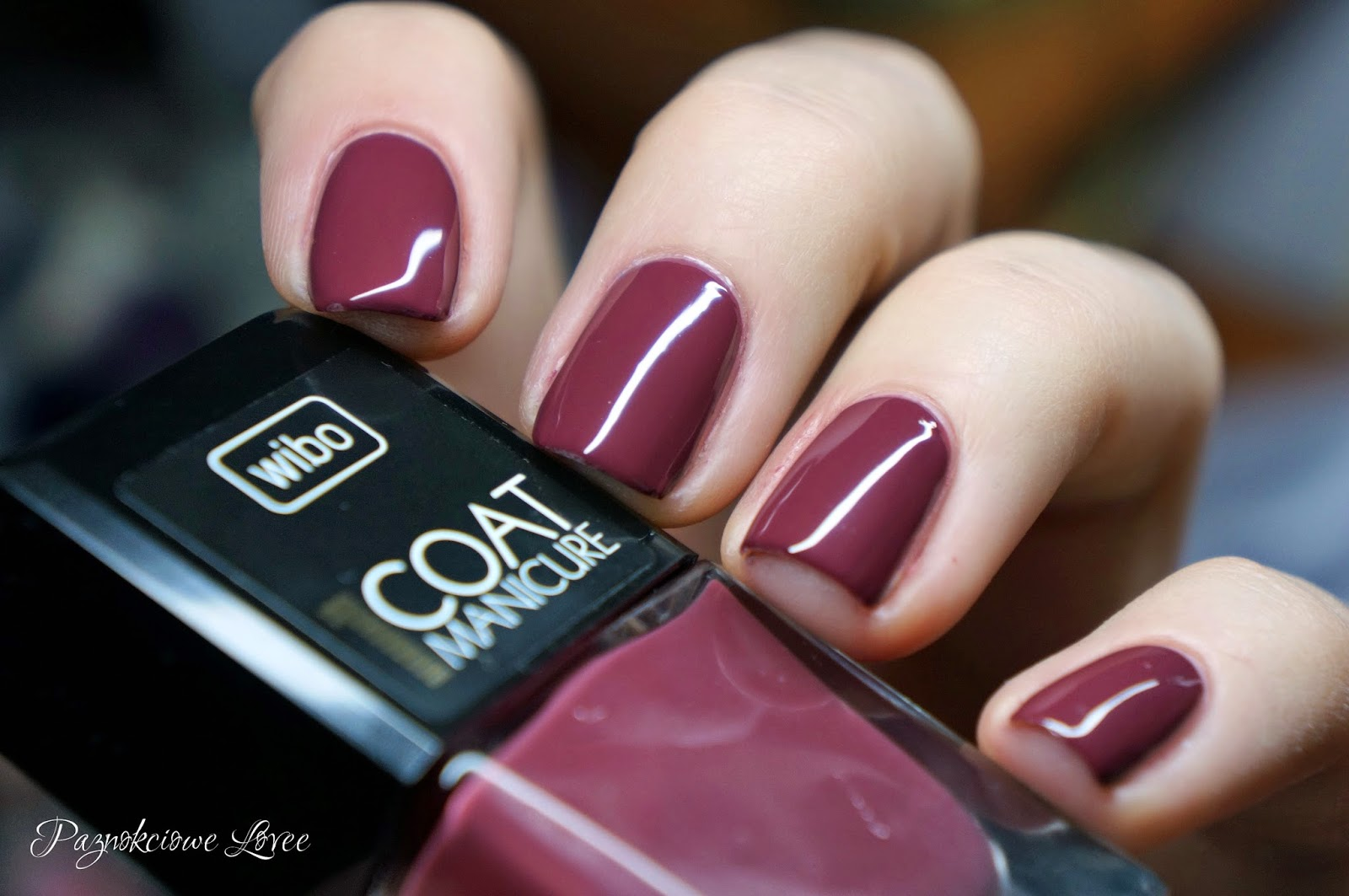 Marsala kolorem 2015 roku, czyli Wibo 1 coat manicure nr 14