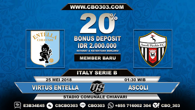 Prediksi Bola Virtus Entella VS Ascoli 25 Mei 2018