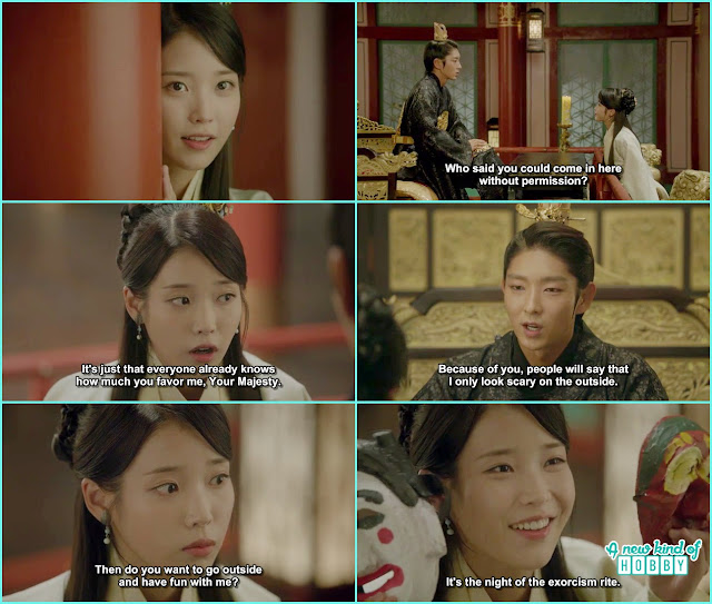 hae soo ask wang so to go to the market as its the exorsim rite night - Scarlet Heart Ryeo - Episode 18 (Eng Sub)