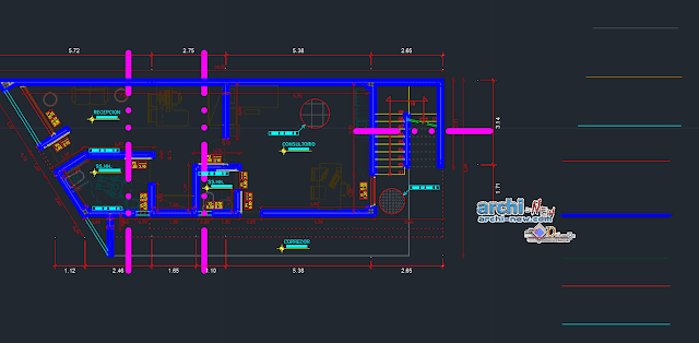 Country house - use of stone in AutoCAD