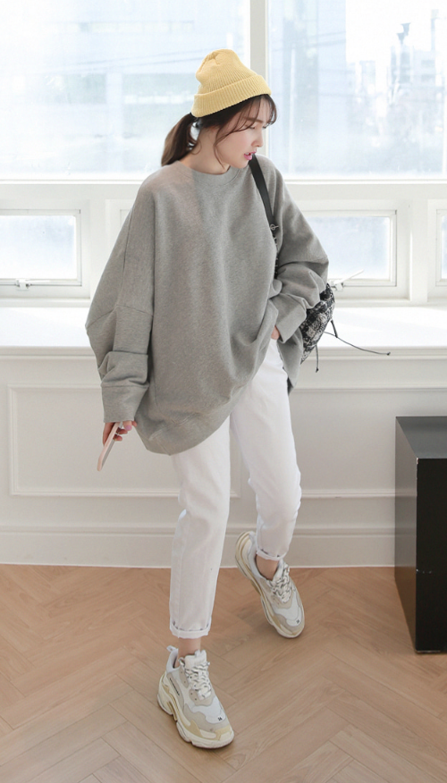 Oversized Drop Shoulder Sweatshirt