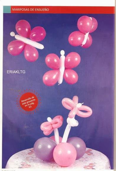 Muchas ideas para hacer formas con globos Revistas de manualidades