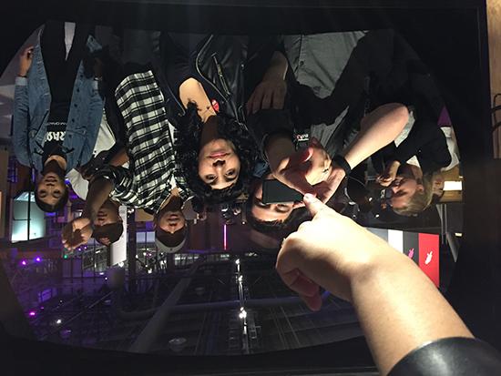 SF Exploratorium After Dark Experience Giant NASA Mirror Selfie