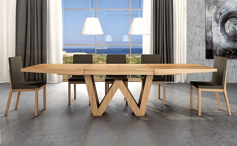 Mesas de comedor 4 mesas de comedor extensibles de dise o for Mesas redondas de diseno