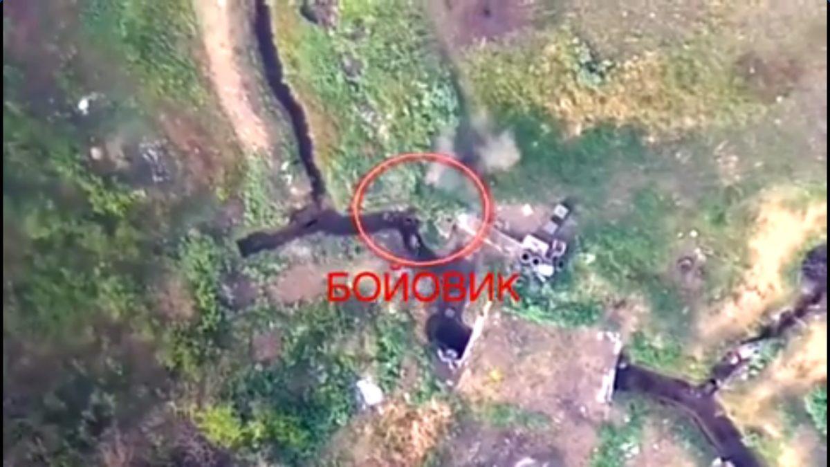 В Сети показали ролик уничтожения боевика от аэроразведки