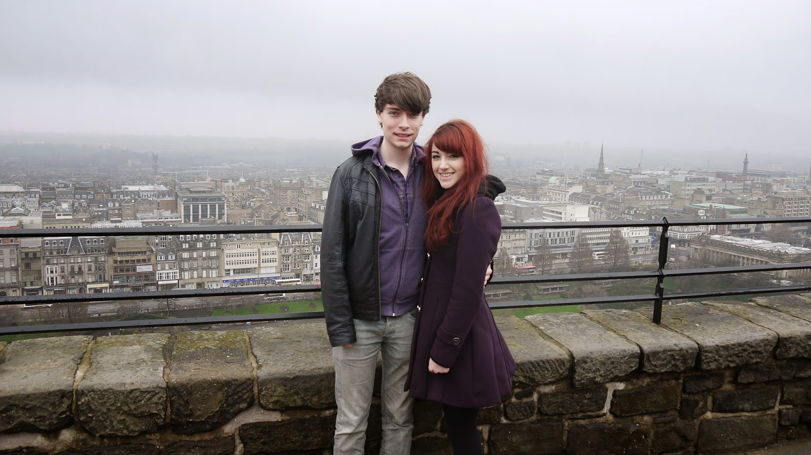 couple at edinburgh castle scotland
