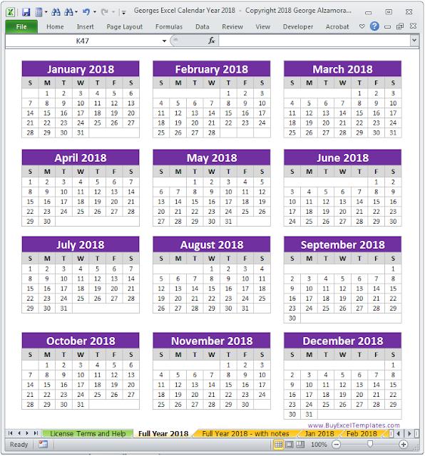 Free Yearly Printable Calendar 2018 Download Amp Editable