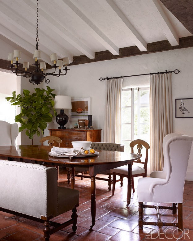 Dining Rooms From Elle Decor: Mix And Chic: Home Tour- Reese Witherspoon's Charming